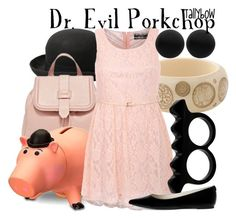 """Dr. Evil Porkchop"" by tallybow ❤ liked on Polyvore featuring Abercrombie & Fitch, Disney, Pilot, Thomas Sabo, L'Artisan Créateur and MICHAEL Michael Kors"