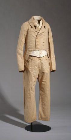 Man's suit, consisting of dresscoat, waistcoat and pantaloons, 1795  Deutsches Hist. Museum
