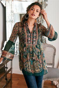 Bohemian Tops, Bohemian Style, Bohemian Blouses, Indian Fashion, Boho Fashion, Autumn Fashion, Fashion Dresses, Fashion Women, Boho Chic
