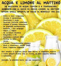 benefits of water lemon, lemon water, acqua e limone benefici, Wellness Fitness, Health And Wellness, Health Tips, Health Fitness, In Natura, Juice Plus, Green Life, Food Hacks, Body Care