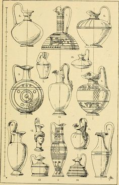 A Handbook Of Ornament: With Three Hundred Plates, Containing About Three Thousand Illustrations Of The Elements, And The Application Of Decoration To Objects Egyptian Drawings, Greek Art, Art Object, Illustrations, Watercolor Art, Art Drawings, Vintage World Maps, Sketches, Artwork