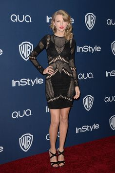 Taylor Swift in Julien MacDonald at the InStyle after party for the 2014 Golden Globes