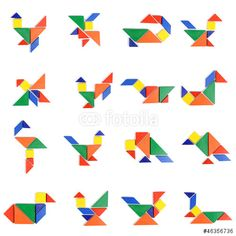 Photo about Seven-piece puzzle on white background. Image of ethnicity, culture, sevenpiece - 27300751 Tangram, Geometric Pattern Design, People Icon, Illustrations, Art Images, Photos, Kids Rugs, Shapes, Quilts