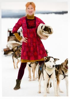 """Kjole """"Flora"""" i økobomuld–20 % på alle kjoler & tunikaer–GUDRUN SJÖDÉN – Kläder Online & Postorder"""