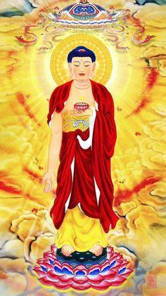 南无阿弥陀佛 Buddhist Monk, Buddhist Art, Peaceful Words, Mahayana Buddhism, Buddha Life, Traditional Stories, Buddha Painting, Gautama Buddha, Guanyin
