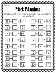 Thanksgiving Math and Literacy Printables- No Prep (Common Core Aligned) Thanksgiving Math Worksheets, First Grade Math Worksheets, Free Printable Math Worksheets, First Grade Activities, 1st Grade Math, Second Grade, Math Fact Fluency, Math Addition, Addition Worksheets
