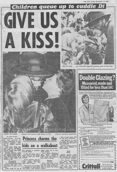 November 12, 1981: Princess Diana in Chesterfield, England. The Sun, November 13, 1981
