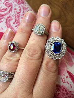 Red, white & blue rings