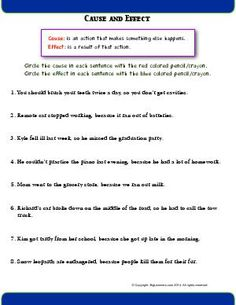 Worksheets for: Reading Comprehension. Printables for Second Grade English Language Arts students, teachers, and home schoolers. Second Grade Writing, Sentence Writing, Cause And Effect Worksheets, Free Reading Comprehension Worksheets, Language Arts Worksheets, Parts Of A Book, Authors Purpose, Alliteration, Context Clues