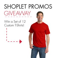 WIN a set of 12 T-Shirts customized by you! Great for summer sports with friends, family reunions, or a company picnic. Leave a comment on our blog telling us what your plans are this summer. Good Luck!  http://blog.shoplet.com/giveaways/win-a-set-of-12-custom-t-shirts/