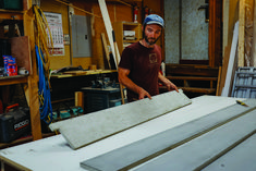Shop-fabricated concrete adds a custom touch to windowsills and other interior tops