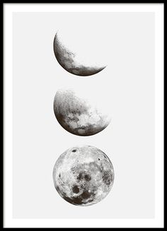 Moon phase, affiche dans le groupe Affiches / Noir et blanc chez Desenio AB – Great Pins Moon phase, poster in the group Posters / Black and white at Desenio AB – Black And White Posters, Black And White Prints, Black And White Painting, Black And White Pictures, Galaxy Black And White, Black And White Sketches, Black And White Wallpaper, Black And White Background, Black White Art