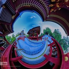 Different space - Pinned by Mak Khalaf Landscapes Templebluegreenredskytrees by IchiroMurata