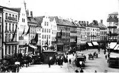 Korenmarkt met Paardetram anno 1900 GENT