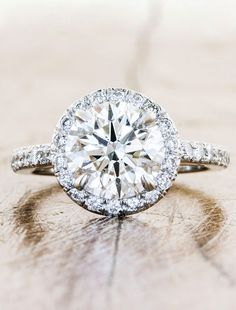 Unique Custom Engagement Rings by Ken & Dana Design - Lindy top view