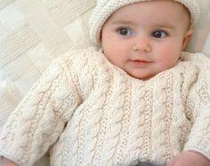 BABY KNITTING PATTERNS  baby sweater  by rocketclothinglondon