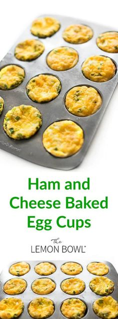 Ham and cheese baked egg cups are the ideal, protein-packed breakfast that can be made ahead in a muffin tin and quickly reheated on busy weekday mornings. #breakfast #mealprep #healthyrecipes #eggs