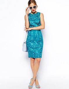 ASOS | Vestido con bordado floral de efecto movimiento de ASOS Premium en ASOS