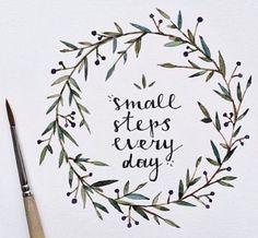small;;; (little, tiny, itty bitty) steps. // pinterest: cleohaa ૐ