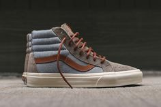 Vans Sk8-Hi Reissue DX Hits the Street in a Tonal Grey and Chambray Colorway http://SneakersCartel.com #sneakers #shoes #kicks #jordan #lebron #nba #nike #adidas #reebok #airjordan #sneakerhead #fashion #sneakerscartel
