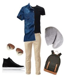 """""""#badboy outfit"""" by baconkat on Polyvore featuring Chor, Common Projects, Ray-Ban, Black and River Island"""