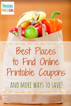 Best Places to Find Online Printable Coupons and More Ways to Save Money this Year! #Frugal #Save