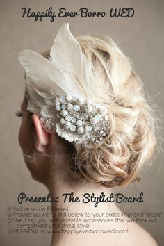 Brides!  Provide us with a link below to your 'wedding inspiration board', and we'll style your special day with rentable accessories from www.happilyeverborrowed.com!  #weddings #bridal #accessories