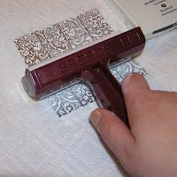This is a super easy way to get the look of metal tile. The tinfoil is so inexpensive and easy to work with. It takes embossing & alcohol i...