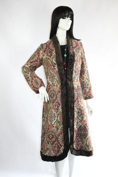 1960s Gemini tapestry coat // The ultimate chic 60s hippie-wear!