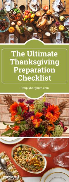 Starting planning for Turkey Day with our Simply Sorghum Thanksgiving Checklist!