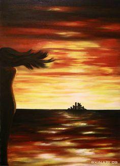 "Saatchi Art Artist Stalo Xinari; , ""beyondTheHorizon"" #art"