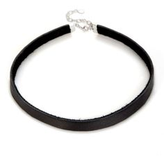 Black Leather Choker Necklace ($20) ❤ liked on Polyvore featuring jewelry, necklaces, leather jewelry, leather necklace, choker jewelry, genuine leather necklace and choker necklace