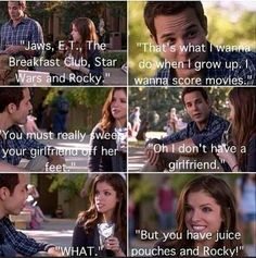 Best date ever!  Pitch perfect. Jesse ♥ Beca ♡♡♡
