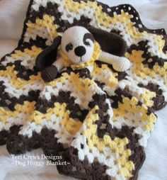 Crochet Pattern Dog Huggy Blanket by Teri Crews instant Basic Crochet Stitches, Crochet Basics, Crochet Blanket Patterns, Baby Patterns, Crochet Blankets, Crochet Round, Half Double Crochet, Single Crochet, Crochet Baby