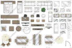 2d Set of furniture to create floor plans, consists of high-quality 300dpi images PNG. PNG format all with isolated backgrounds and under his own name.