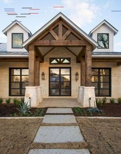 Farmhouse style becomes well-known and loved by many people in any different circles.In this case, you can combine the farmhouse style with modern style Rustic Houses Exterior, Modern Farmhouse Exterior, Rustic Farmhouse, Farmhouse Style, Farmhouse Ideas, Exterior Stairs, Rustic Homes, Cottage Exterior, French Farmhouse