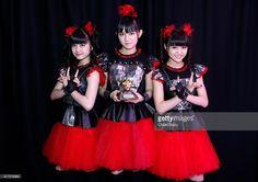 Yuimetal, Su-metal and Moametal of Babymetal win Breakthrough Award at the Metal Hammer Golden Gods awards on June 15, 2015 in London, England.