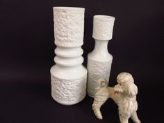 Zwei Vintage Op Art Bisquit Porzellan Vasen von KPM Royal Porzellan Bavaria 70er von ShabbRockRepublic auf Etsy