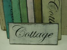 SHABBY CHIC COTTAGE sign / distressed white by SophiesCottage, $14.95