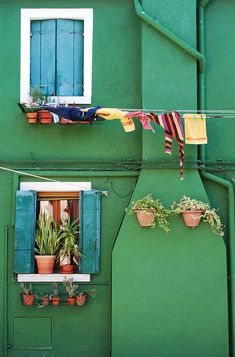 Burano Island, Venice, Italy - Emerald building. I look forward to photographing the colorful buildings here!