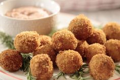 Giada's Crispy Turkey and Stuffing Bites... great with Thanksgiving leftovers or as an app
