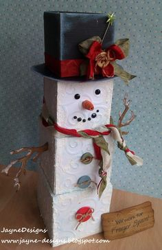 3D Snowman from Tags, Bags Boxes and More