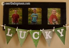 """Free """"LUCKY"""" Bunting Printable to dress up your home for St. Patrick's Day!!"""