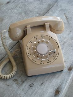 Rotary phones! I remember when I got my first phone in my bedroom as a teenager. I was so lucky!