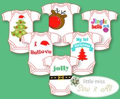 Christmas Onesie Templates Ropas De Navidad Para Niños ea5f2572d9b