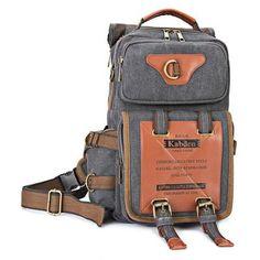 Just US$31.05, buy Kabden 7015 Canvas Leisure Shoulder Sling Bag Handbag online shopping at GearBest.com Mobile.