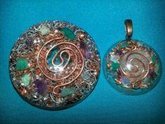 ~*~  Orgone Pendant Orgonite Dome Opal Amethyst Amazonite Quartz Crystal Reiki NR | eBay
