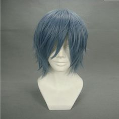 """12.6"""" Layered Smoke Gray Cosplay Wig -- Gurren Lagann Kamina by Allnicecos. $23.99. Use it year round, whether for costume, fashion, or just for fun. Please note: This item's color may vary due to inherent manufacturing variations or your computer monitor's color settings. The item you receive will be identical or substantially similar to the item pictured in this listing.. Adjustable net-cap fits most head size. Material:100% High-quality Synthetic fiber anti High..."""