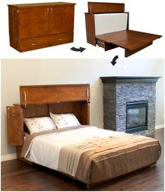 Decorate your room in a new style with murphy bed plans Space Saving Beds, Space Saving Furniture, Home Furniture, Murphy Bed Ikea, Murphy Bed Plans, Studio Apartments, Small Space Living, Small Spaces, Hideaway Bed