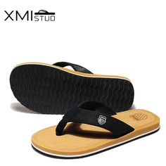 XMISTUO Couple Slippers Summer Beach Flats Flip Flops Outdoor Low-heels  Women   Men Slippers 05fb8404a3d4